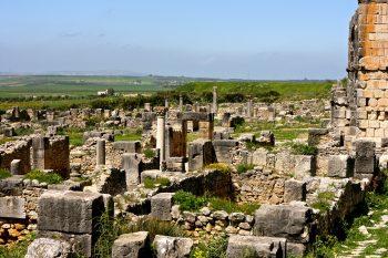 Ruines romaines de Volubilis. Photographie : Trevor Hoxham - Flikr